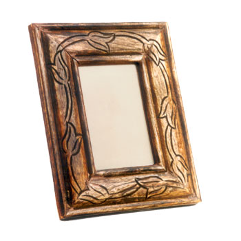 Antique Finish Wooden Photo Frame