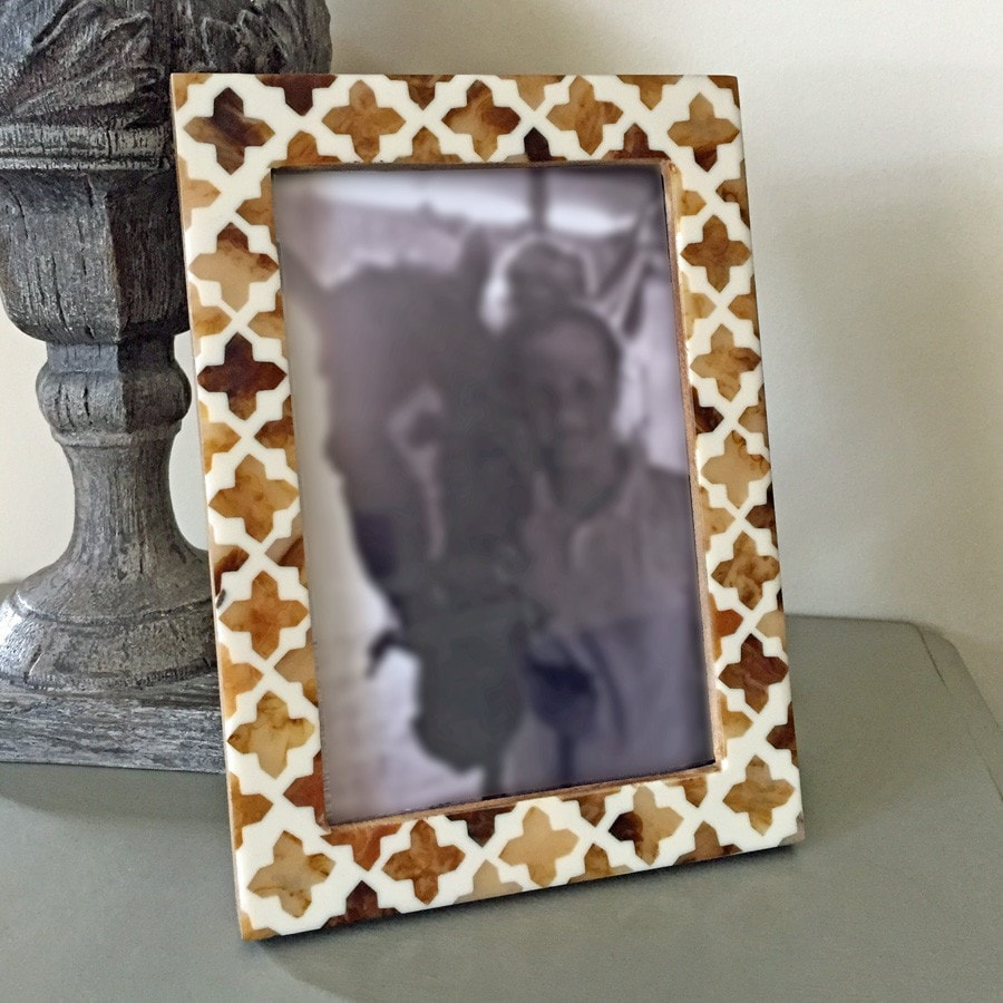 Resin Inlay Picture Frame with cross pattern